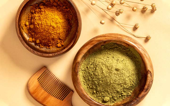 henna powder for hair mask