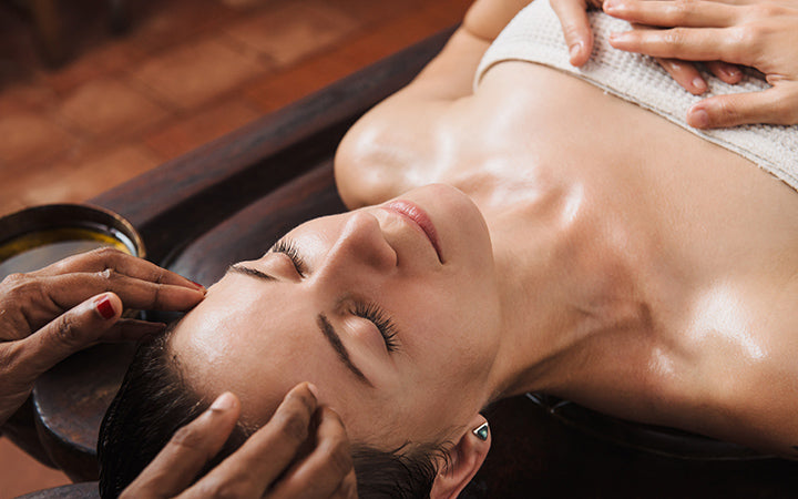 ayurvedic face massage