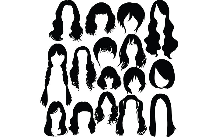 different shapes of female hairstyles