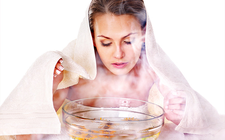 facial massage with steam treatment