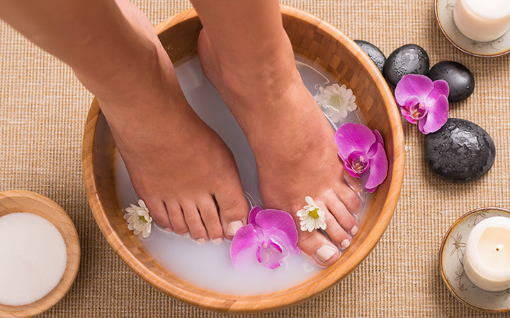 foot bath with orchid