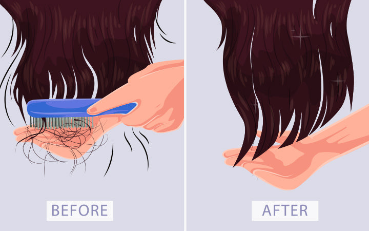 girl before and after hair problem