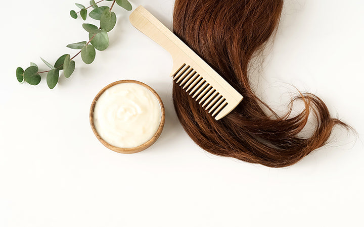 hair mask and bamboo comb