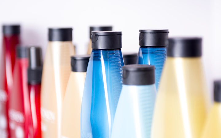 hair related products in bottles
