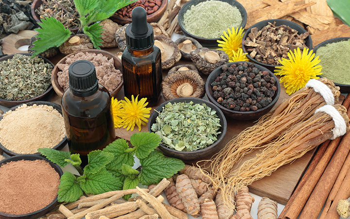 herbs, spices, essential oil & supplement powders