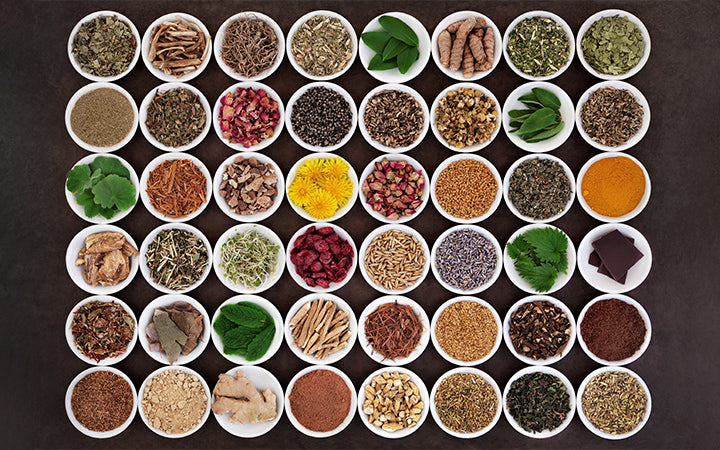 large medicinal herb selection for womens health care