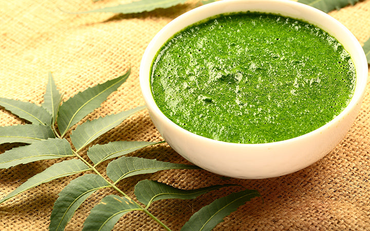 neem leaves and paste for pimples on chin