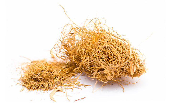 raw khus or vetiver grass
