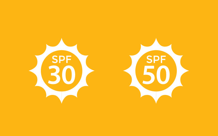 spf 30 and spf 50 for uv protection