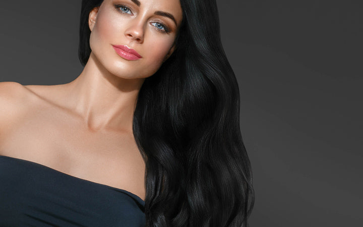 woman with black long hair
