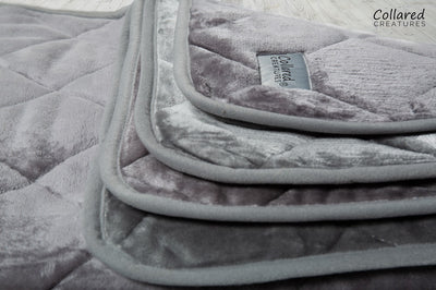 All sizes of luxury Grey Quilted Blanket back in stock