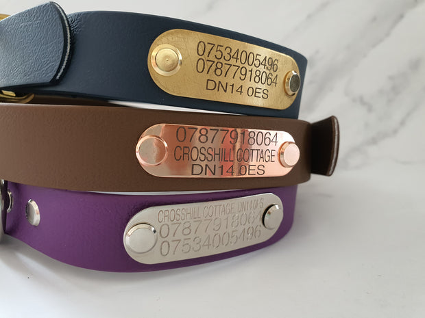 Brown & Black Multicolour  Waterproof Dog Collar