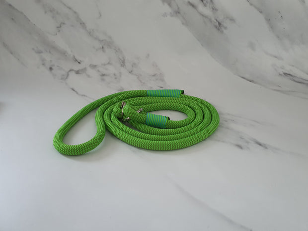Handmade Rope Slip Lead Lime