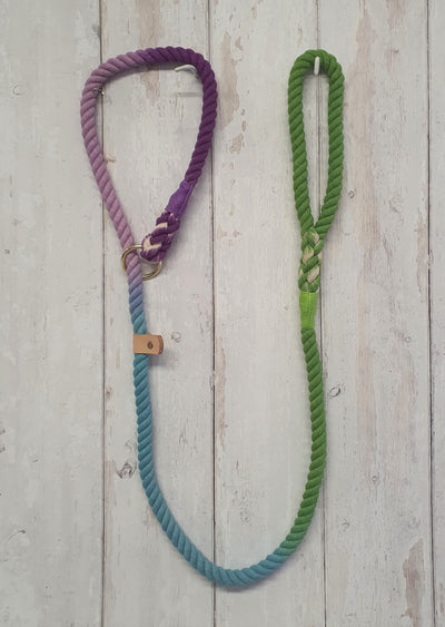 handmade-green-and-purple-ombre-lead-with-whipping|collaredcreatures