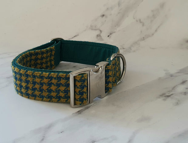 38mm Wide  Harris Tweed  Dog Collars for larger dogs - Collared Creatures