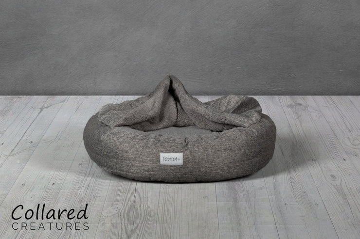 Grey  Classic Comfort Cocoon (cushion base) - Collared Creatures