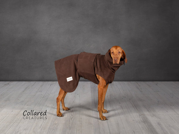 Brown Perfectly Practical Dog Drying Coat - Collared Creatures