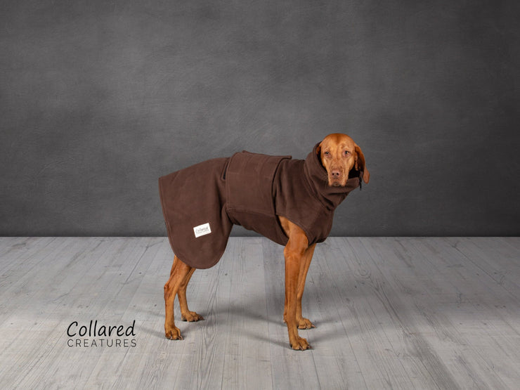 Brown Perfectly Practical Drying Coat - Collared Creatures