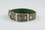 Totally Traditional Herringbone Harris Tweed Luxury Dog Collar - Collared Creatures
