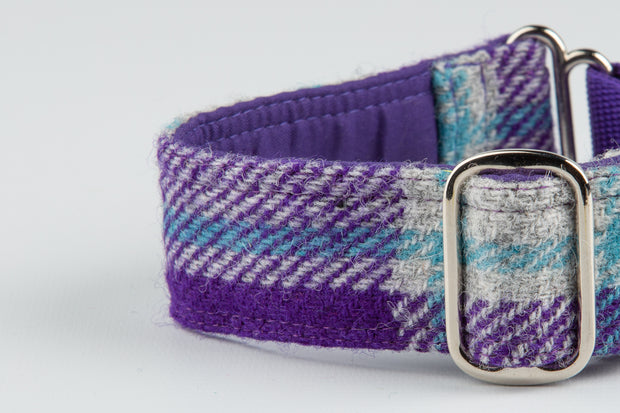 Plush Purple & Blue Check - Collared Creatures