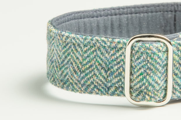 Moody Blue Herringbone - Collared Creatures