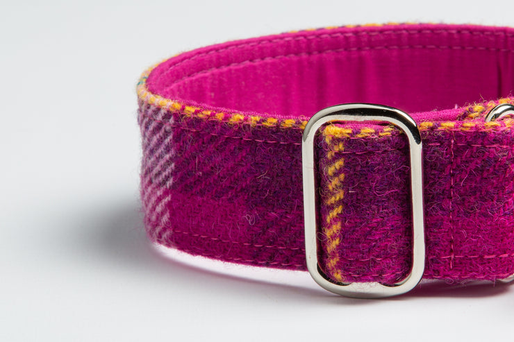 Vivacious Cerise Check - Collared Creatures