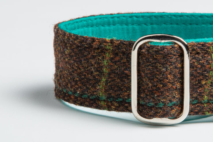 Chocolate Drop Harris Tweed Check - Collared Creatures