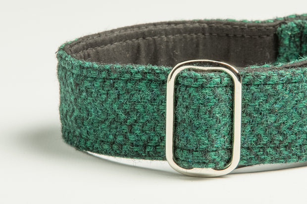 Green & Black Herringbone - Collared Creatures
