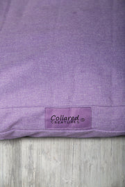 Lilac Oxford Flat Bed - Collared Creatures