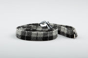 Charcoal & Black Check Harris Tweed Dog Collar - Collared Creatures