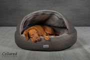 Grey Deluxe Comfort Cocoon Dog Cave Bed - Collared Creatures