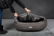 Luxury Deluxe Comfort Cocoon Dog Cave Bed - Collared Creatures