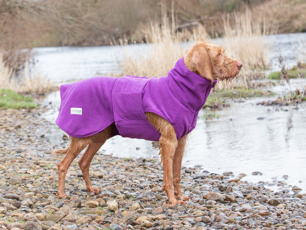 Magenta Perfectly Practical Drying Coat - Collared Creatures