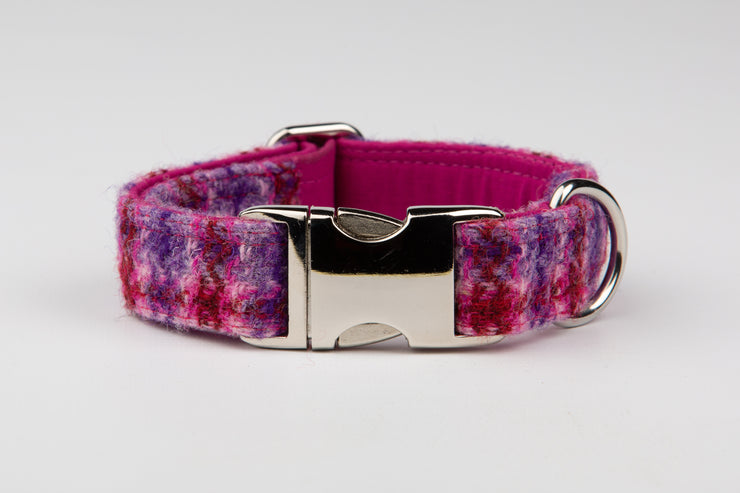 Perfect Purple Tweed Check - Collared Creatures