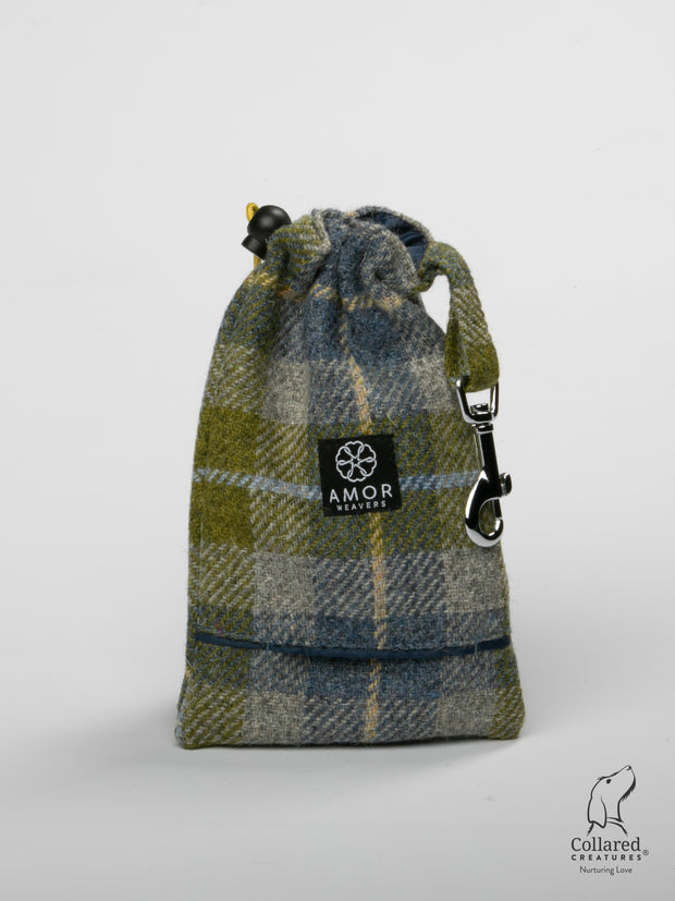 Product shot of Collared Creatures Old Shawbost Tweed Treat Bag