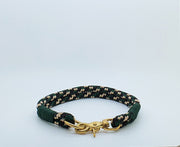 Handmade Rope Dog Collar Green Camo with whipping - Collared Creatures