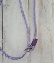 Handmade Rope slip lead Lilac with whipping - Collared Creatures