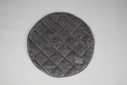 Collared Creatures Luxury Grey Quilted Deluxe Cocoon Round Blanket