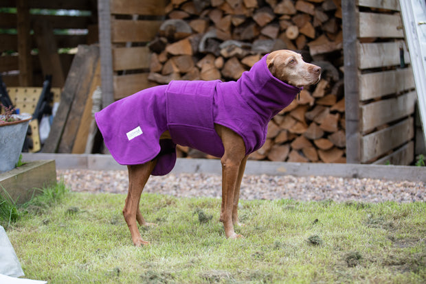 Magenta Perfectly Practical Dog Drying Coat