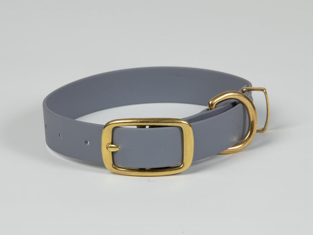 Collared Creatures Pale Grey Waterproof Dog Collar