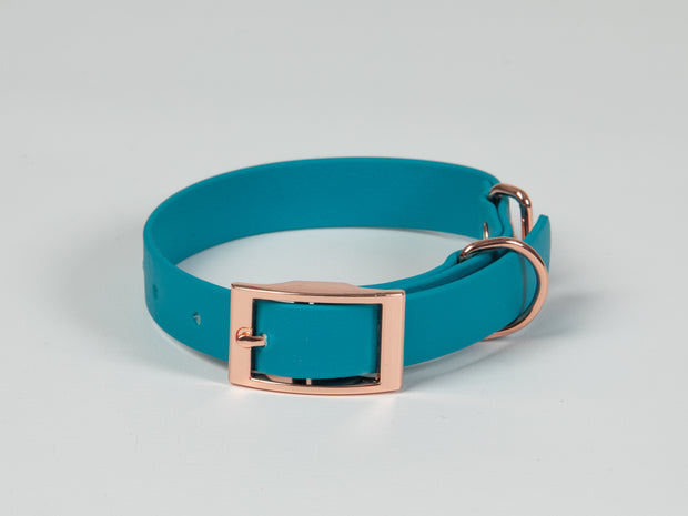 Turquoise Waterproof Dog Collar
