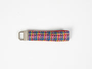Blue kaleidoscope Check Harris Tweed  Dog Collar
