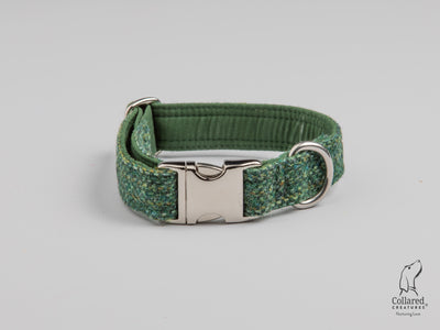 Fern Herringbone  Harris Tweed Dog Collar