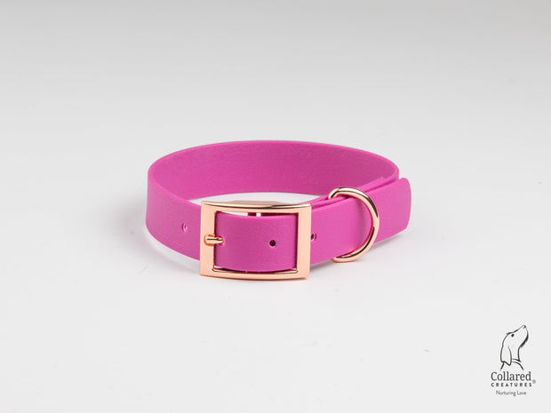 Magenta Waterproof Dog Collar
