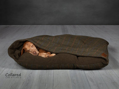 Green Tweed Snuggle Sack - Collared Creatures