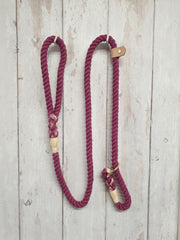 Collared Creatures Berry Ombre Dip Dyed Dog slip lead