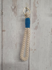 Rope Key-Ring with Coloured Whipped Thread