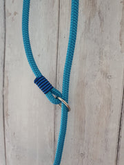 Handmade Rope slip lead pale blue - Collared Creatures