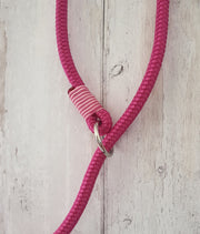 Handmade Rope slip lead Deep pink with whipping - Collared Creatures