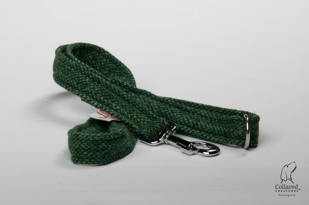 Collared Creatures Fern Herringbone Harris Tweed Luxury Dog Lead